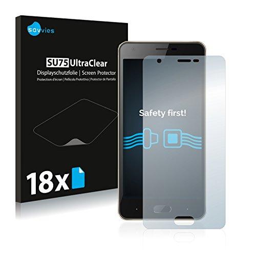 Savvies 18x Schutzfolie kompatibel mit Doogee X20 Bildschirmschutz-Folie Ultra-transparent