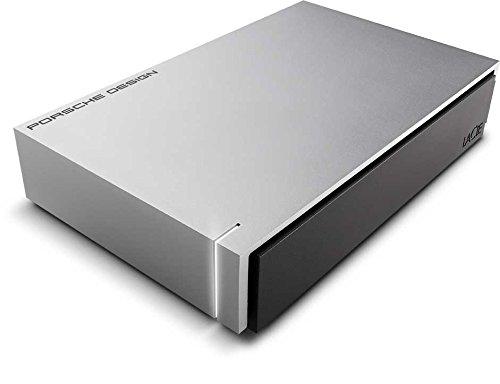 LaCie Porsche Design - Disco duro externo de 4TB (USB 3.1 Type-C, Desktop, 3.5'), gris claro