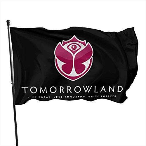 AGnight Flagge Fahnen Banner Tomorrowland Decorative Garden Flags, Outdoor Artificial Flag for Home, Garden Yard Decorations 3x5 Ft