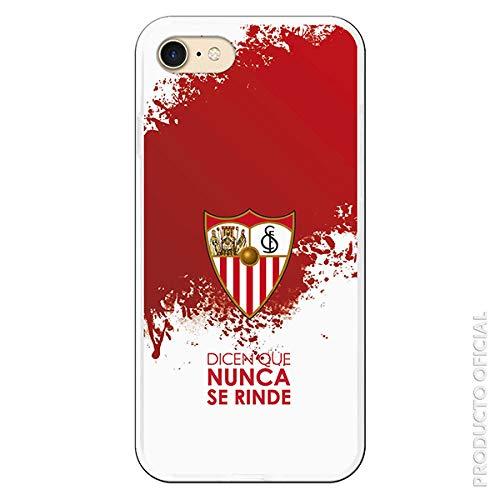 Funda para iPhone 7 - iPhone 8 Oficial del Sevilla FC Sevilla Dicen Que Nunca se Rinde para Proteger tu móvil. Carcasa para Apple de Silicona Flexible con Licencia Oficial del Sevilla FC.