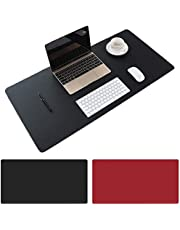 AngKng Large Desk Pad, Non-Slip PU Leather Desk Mouse Pad Waterproof Desk Pad Protector, Dual-Side Use Desk Writing Mat for Office Home, 80cm x 40cm