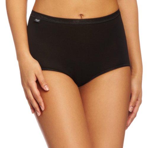 Sloggi Basic Maxi 3 Pack, Braguitas básicos + confort premium para Mujer, Negro, ES: 60, UK : 30