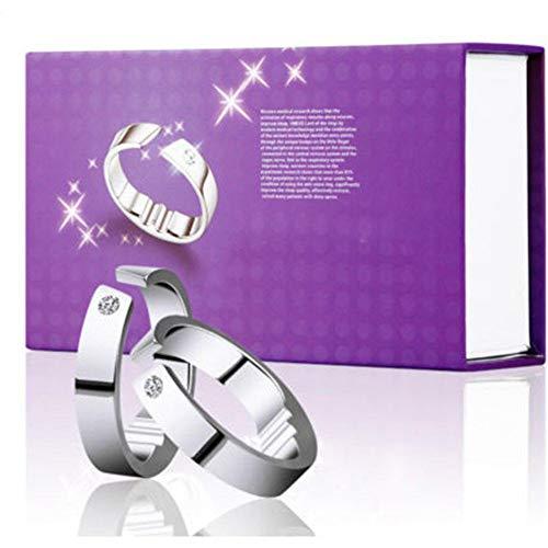 5 Größen Anti-Schnarch-Ring Magnet-Therapie-Ring Atemhilfegerät Fördern Sie die Einstellung für einen bequemen Schlaf-Schnarchring(XL)