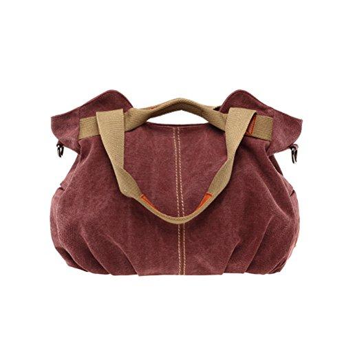Umily Mujeres Bag Bolsos bandolera Mutil Function Bag Crossbody Bag Tote Carteras de mano-púrpura