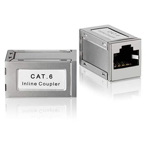 SEBSON 2X Conector RJ45 Hembra/Hembra, Adaptador Ethernet de Extensión para Cable de Red, Cable de Conexión, Cable LAN - Empalme RJ45