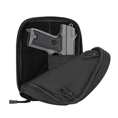 ProCase Concealed Gun Pouch, Multipurpose Carry Pistol Holster Fanny Pack Waist Bag for Handgun with Belt Loops -Medium, Black
