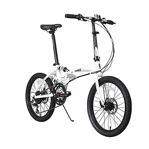 DODOBD Bicicleta Plegable de 6 Velocidades 20 Pulgadas, Folding Bicicleta Plegable Cuadro Aluminio Ruedas, Bicicleta Retro de Ciudad para Trabajo Ligero para Adultos Bicicletas de Ciudad