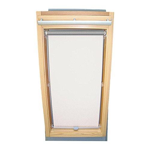 Easy-Shadow Dachfenster Abdunkelungsrollo Basis Rollo Thermo für Typ Fakro FT/FTP/PK/FK/FE/FL/PTP Größe 04 - 66/118 (Glasmaß 50,0 x 101,3 cm) - in der Farbe weiß