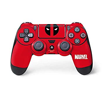Skinit Decal Gaming Skin for PS4 Pro/Slim Controller - Officially Licensed Marvel/Disney Deadpool Logo Red Design