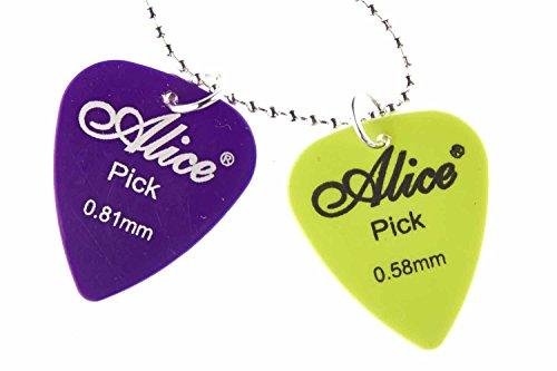 Miniblings Plektron Plektrum Gitarre Kette Halskette 80cm Gitarristen Bass Musik - Handmade Modeschmuck - Gliederkette versilbert