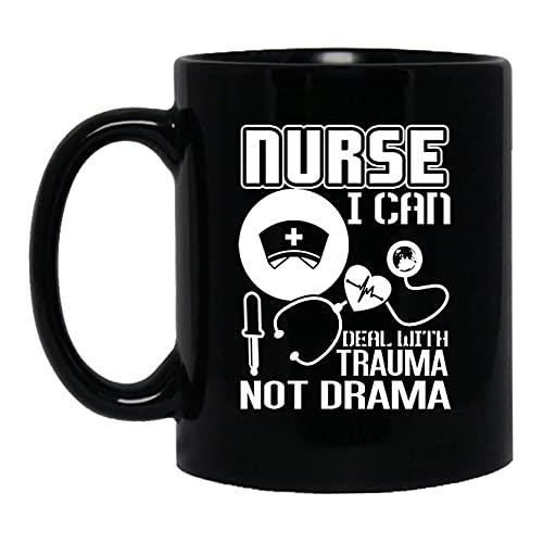 NA Las Enfermeras Pueden lidiar con el Trauma, no el Drama, Taza de cerámica, diseño de Taza de café, 11 oz