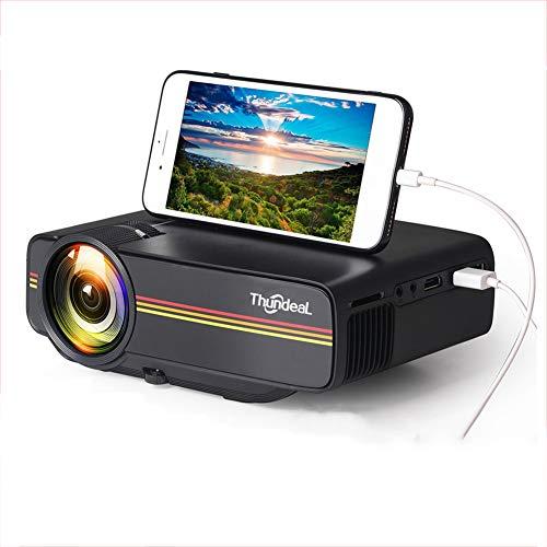 MaiTian projector, mini-projector Yg410 1800 lumen Wired Sync display meer stabiel dan WiFi beamer film Ac3 Hdmi Vga projector, ondersteunt 1080p (zwart)