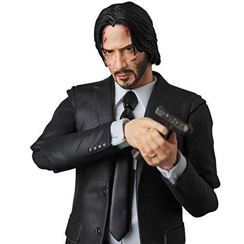 WXFQY Kid's Toy Mafex 070 John Wick PVC Articulated Joints Moveable Action Figure Toy