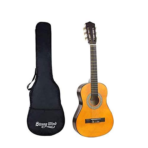 Guitarra para principiantes, guitarra clásica, guitarra acústica, 30 pulgadas, 6 cuerdas de nailon, guitarra para principiantes para estudiantes, niños y adultos