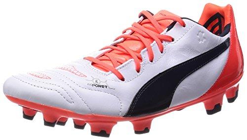 Puma evoPOWER 1.2 L FG, Calcio scarpe da allenamento uomo, Bianco (Weiß (white-total eclipse-lava blast 08)), 43
