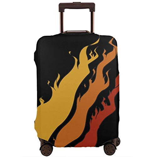 Fundas para Maletas Pre-Ston Fire Na-Tion Protector de Maleta de Viaje, Funda de Maleta con Cremallera, Fundas de impresión de Moda Lavables para Maletas, Protector de Maleta de Viaje con Cremallera