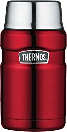 Thermos vacuum insulation technology for maximum temperature retention, hot or cold, keeps liquids hot or cold. Durable stainless steel interior and exterior Cool to the touch with hot liquids, sweat proof with cold Compact and insulated stainless st...