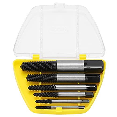 Extractor de tornillos roto, 6 uds, Extractor de tornillos de acero de alta velocidad, rosca gruesa, extractor de uñas dañadas rotas