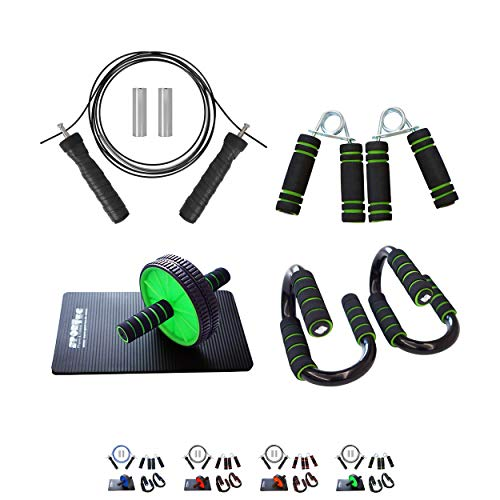 Sport-Tec Fitness-Set, 4-tlg., Push-Up Griffe, Bauchtrainer, Handtrainer, Springseil