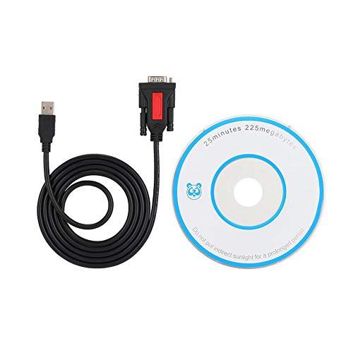 ASHATA USB a RS232 DB9 Cable Adaptador de Puerto Serie, USB a RS232 Puerto Serie Conexión de...