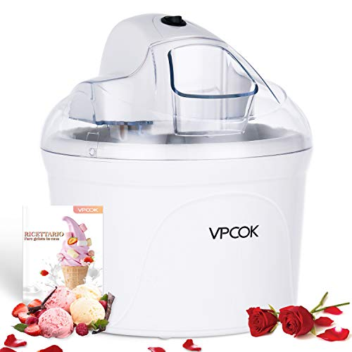 VPCOK Macchina del gelato 1,5L Gelatiera Autorefrigerante...