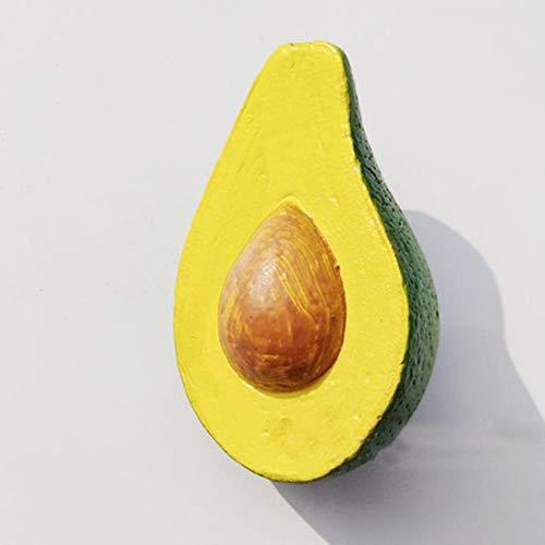 Soode 2PCS Simulation Fruit Koelkast Magneet Creatieve Durian Avocado Hars Koelkast Magneten Reizen Geschenken Home Decoratie
