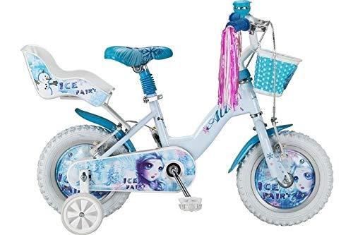 Altec 12 Zoll Kinder Fahrrad Bike Rad MÄDCHENFAHRRAD KINDERFAHRRAD MÄDCHENRAD Rücktrittbremse Ice Fairy Weiß Blau