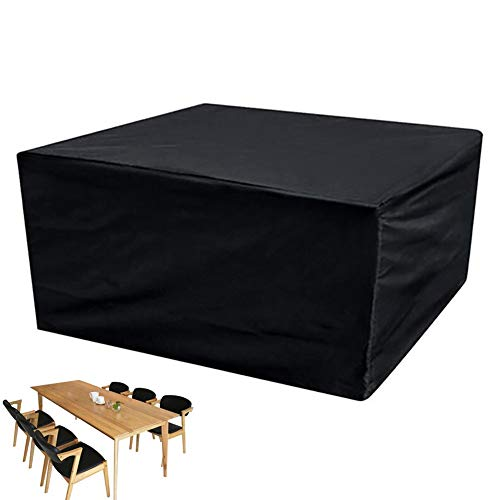 XGG Cubierta de Muebles de Jardín Funda para Muebles de Jardín Exterior Impermeable Resistente al Polvo Anti-UV Protección Exterior Muebles de Jardín Cubiertas de Mesa y Silla 126 * 63 * 28.35in