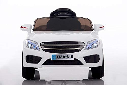 Babycar Auto per Bambini Macchina Elettrica per Bambini Babyfun ( Bianca ) Batteria 12 Volt con Telecomando 2.4 GHz Porte Apribili con MP3 e Chiavi