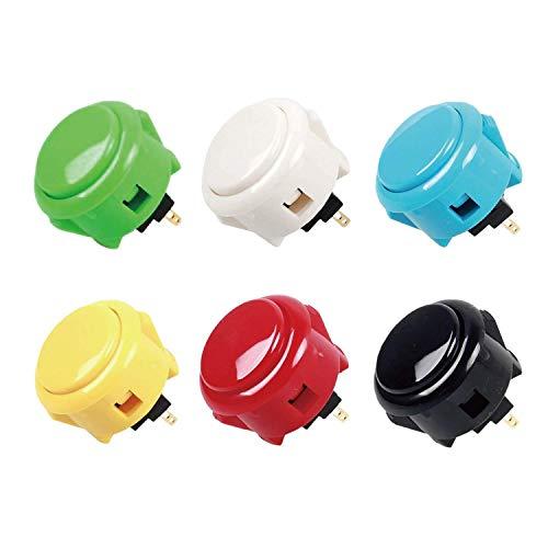 Sanwa - Juego de 6 botones para Arcade Jamma, 6 colores