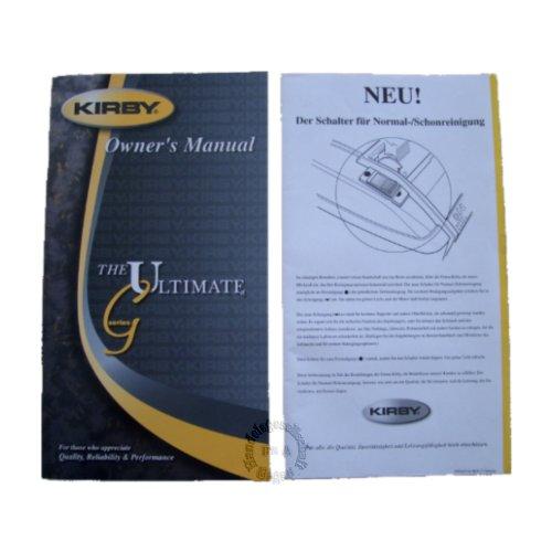 Original Kirby Bedinungsanleitung / Anleitung in Deutsch Modell G8 Ultimate Diamond (263305)