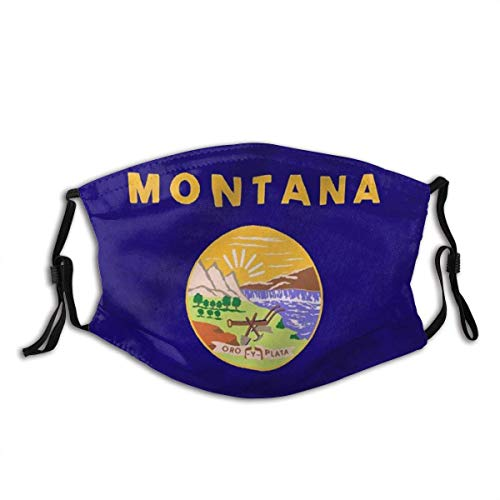 Unisex Staubdichter,Mundschutz,Gesichtsdekorationen,Gesichtsbedeckung,Für Die Persönliche Gesundheit,Montana Staatsflagge Montanan Mt Flaggen