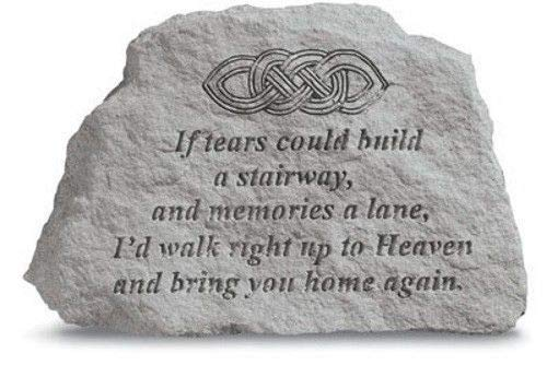 If Tears Could Build A Stairway Memorial Garden Stone With Celtic Knot