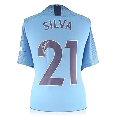 exclusivememorabilia.com Camiseta de fútbol Manchester City 2018-19 firmada por David Silva