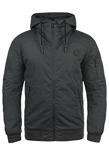 !Solid Tilly Sporty Herren Übergangsjacke Herrenjacke Jacke gefüttert mit Kapuze, Größe:XL, Farbe:Dark Grey (2890)