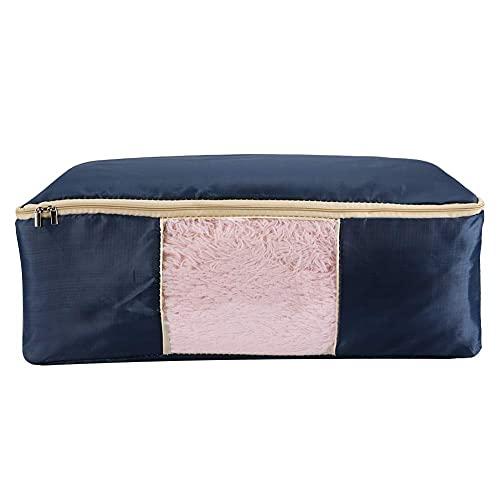 Sencillo y elegante Bolsa de almacenamiento de gran capacidad La bolsa de almacenamiento de ropa con mango y bolsa de almacenamiento de la manta de la ventana visible para las edredones de ropa de cam