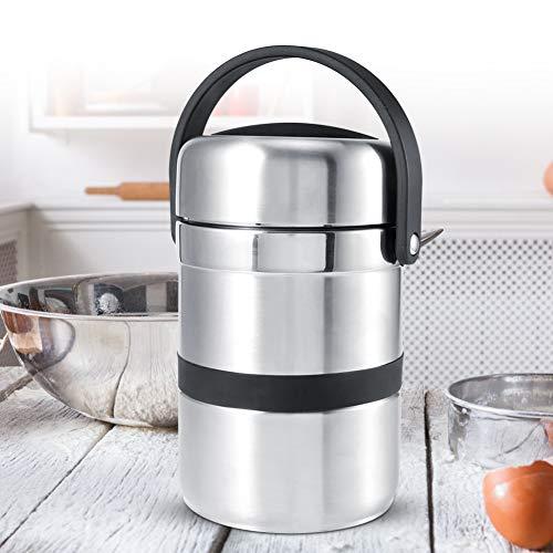 Wakects Isolierte Lunchbox, 1,8 Liter, Edelstahl, mit Griff,...