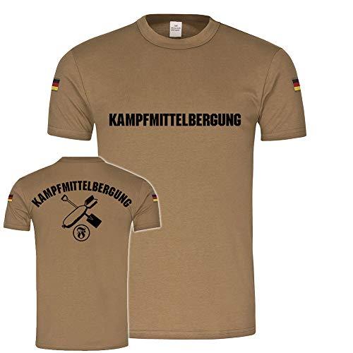 Copytec Kampfmittelbergung Bundeswehr Minen Räumdienst Abwehr EOD BW Tropenshirt #20063, Farbe:Khaki, Größe:Herren XL