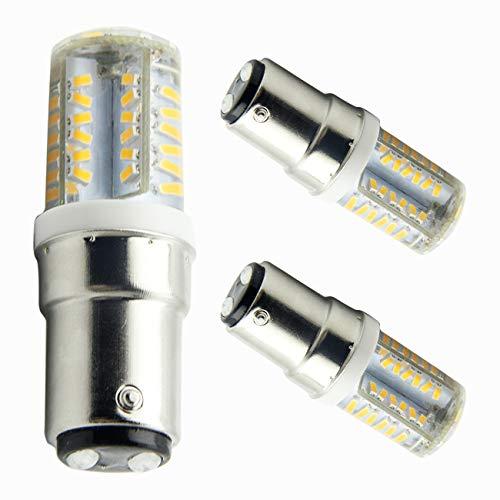 B15d LED-Birne B15D Doppelbajonettsockel 4W 12V 45W Äquivalent Nicht-Dimmbare Warm Weiß 3000K Nähmaschinenlampe (2er Pack)