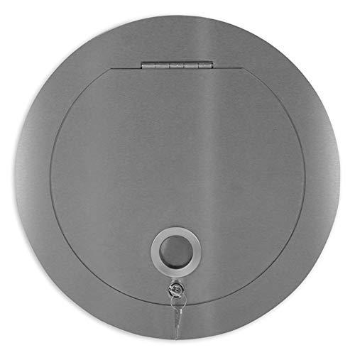 Ampel 24 Wäscheabwurfschacht Einwurftür für Wäschesammler | Muschelgriff | rund Ø 300 mm | Edelstahl rostfrei | abschließbar
