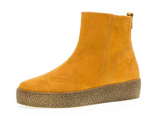 Gabor Damen Stiefelette 36.621, Frauen Kurzstiefel,Stiefel,Boot,Halbstiefel,Bootie,flach,Curry (Micro),41 EU / 7.5 UK