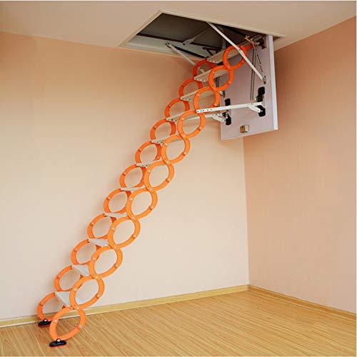 WeeLion Escalera de extensión Invisible portátil para el hogar Aleación de Aluminio-magnesio, Escalera Integral de Pared - Villa/Loft/sótano/almacén Escalera de extensión Plegable Interior,80 * 100cm