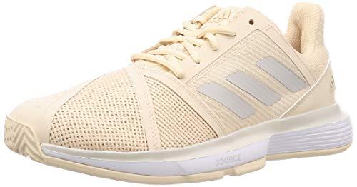Adidas Dames Court Jam Bounce Allcourtschoen crème, lichtgrijs tennisschoenen