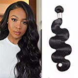 Brazilian Body Wave 100% Human Hair 1 Bundle, natural human hair, Unprocessed Remy Hair Natural Color No Smell Soft Health (14')