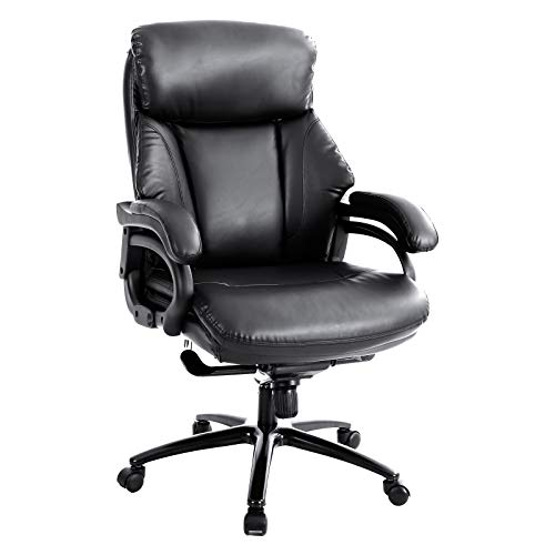 Sophia & William Ergonomic PU Leather Office Executive Rocking Chair High Back, Modern 360° Swivel Home Office Desk Computer Chair Big and Tall with Armrests and Headrest, Load Capacity: 400 lbs