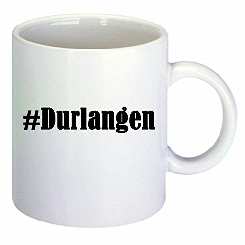 Kaffeetasse #Durlangen Hashtag Raute Keramik Höhe 9,5cm ? 8cm in Weiß