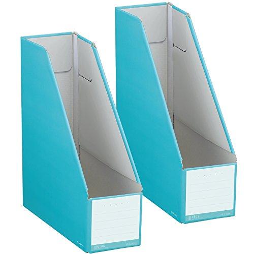 コクヨ ファイル ファイルボックス NEOS スタンドタイプ A4 2個セット ターコイズブルー フ-NEL450BX2