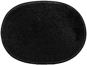 3040cm Anti-Skid Fluffy Rug Round Rug Soft Shaggy Area Rug Bath Mat Bathroom Carpet Water Absorption dywanik #SS,Black,United States,30CMx40CM
