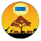 Escala digital de peso corporal de precisión Ronda Safari Silueta de Rhinos s...