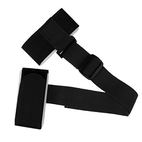 MagiDeal Sangle D'epaule en Nylon Boucle pour Rangement De Planche De Ski Bandoulière Réglable - Noir, Taille Unique